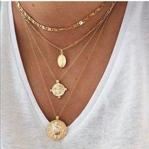 Lulu Multi Layer Pendant Necklace